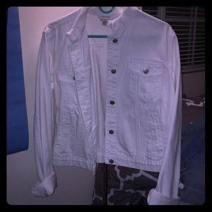 Jackets & Blazers - White Jean Jacket